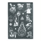 【ムーミン・北欧】[Finlayson]クリスマス ブラックジャガードキッチンタオル