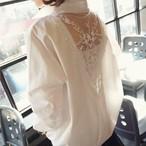 【tops】背中刺繡入りバックレス簡約大人気ブラウス