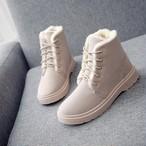 【shoes】裏起毛スノーブーツレースアップ防寒合わせやすい