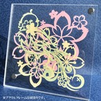 切り絵キット2018.04 「小鳥と桜」