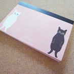 【予約品】メモ帳 <ネコ・ピンク> ポストカードサイズ