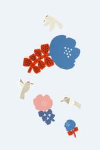 花とハチドリーHummingbirdー