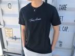 【7/3 21:00再入荷】ThreeArrows刺繍メッセージTシャツ(black)