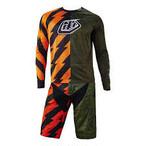 Troyleedesigehns Moto Jersey Caustic / ARMY GREEN  & Moto Short Caustic / ARMY GREEN  SET (SALE)