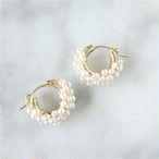 送料無料14kgf*AAA+ Pearl pavé pierced earring / earring