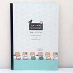 【まめしば隊】カワイイモノタチB5学習ノート (整列)【柴犬メモ帳 kmo-29096】