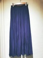 【送料無料!!】ALDRIDGE   アルドリッジ        リバーシブルロングスカート  ブルー×黒