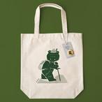 登山熊のトートバッグ(缶バッジ付き)
