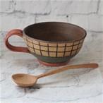 【mano4周年企画コラボギフト】工房ことりののスープカップ&おと木工のスープスプーン