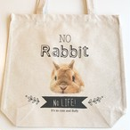 トートバッグ NO Rabbit NO Life! うさぎのモキュ様