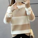 【tops】洗練されたシンプルなデザイン配色セーター24905431