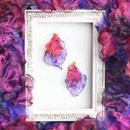 『魅惑』ゆらめく焔 no,1|赤と紫のゆれるアートピアス/イヤリング