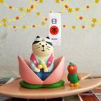 (272) デコレ コンコンブル 桃太郎猫どんぶらこセット キジ・桃の舟付き