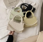 classical pearl hand bag 4color