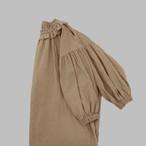 ふんわり袖のフリル襟チュニック