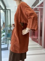 linen  side slit hospital tops