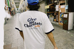Give me Chocolate Ringer Tee【Red / Navy】