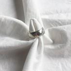 vintage silver hammered band ring