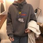 イラストプリント ロゴスウェット プルオーバー【0979】