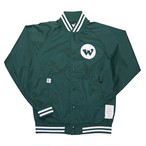 WILL GOOD WILL NYLON STADIUM JACKET (GREEN)