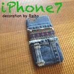 デニムネイティブiPhone7カバー(紫)