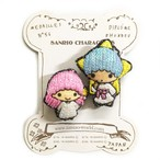 サンリオ刺繍ミニブローチ Twin star