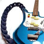 スマートな彼に捧ぐギターストラップ【Wellington】グローブレザー仕様/ NAVY
