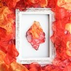 『太陽』朝の光 no,1|赤とオレンジのゆれるアートピアス/イヤリング