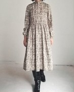 SHIP PATTERN RETRO WINTER DRESS.