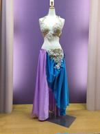 ベリーダンス衣装 ブルーパープル Sサイズ