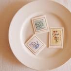 3つの小さな庭切手セット| Sunny Thread
