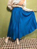 Vintage  metalic blue silk skirt ( ヴィンテージ  メタリック ブルー ロング スカート )