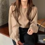 ラテカラー ブラウス トップス ボリューム袖 レディース ファッション 韓国 オルチャン