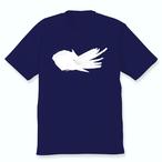 羽づくろうオカメインコTシャツ(ホワイトフェイスルチノー)ネイビー