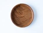 【現品限り】けやき 縮み杢 小さな丸盆  直径19.5  cm 無塗装 一人用