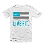 LIVE FIT LVFT Flag Tee - White VF101
