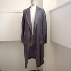 【hippiness】cupro coat (Jacquard9khaki)/【ヒッピネス】キュプラ コート(ジャガード9カーキ)
