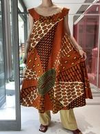 African mother motif print  dress