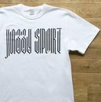 """【残りわずか】JS """"Blackletter"""" Tシャツ/ホワイト × ブラック"""