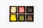 【2020バレンタイン限定】:OWL CHOCOLATE GIFT BOX SET (6per 1set with special wood box):梟 ローチョコレート 6個入ギフトセット(木箱入り)