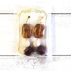 【Ranunculus】鼈甲とファーのイヤリング/イヤリング