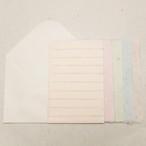 洋レターセット(色便箋10枚、洋封筒3枚)