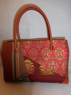 名物裂パッチワーク和装バック Antiques fabric bag(made in Japan)(No2)