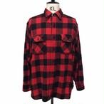 60's PILGRIM SEARS Wool Buffalo check shirt