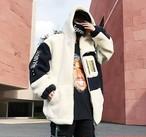 【即納】新作 冬物 冬コート ユニセックス メンズ ハンサム ボアジャケット 冬ジャケ  秋冬