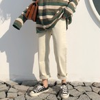 【bottoms】無地ファッションハイウエストカジュアルパンツ