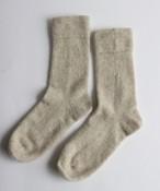 手編み機で編んだカシミヤウール靴下 (WOA-046)