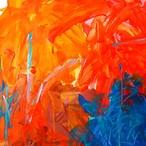 絵画 絵 ピクチャー 縁起画 モダン シェアハウス アートパネル アート art 14cm×14cm 一人暮らし 送料無料 インテリア 雑貨 壁掛け 置物 おしゃれ ロココロ 現代アート 抽象画 画家 : tamajapan 作品 : t-03