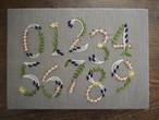 刺しゅうパネルキット「植物モチーフの数字サンプラー」