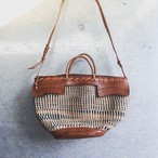 "F様 キープ品 ""HANDSOME"" Leather×sisal 2WAY BAG(SB×BL)"